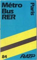 Paris Metro Bus RER 1984 - Europe