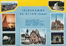 Cp , 21 , DIJON , Télégramme De Dijon , Multi-Vues - Dijon