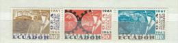 EC - 1964 - 1144-1146 - SET -SATZ - POSTFRISCH - MNH - BÜDNIS FÜR DEN FORTSCHRITT - Equateur