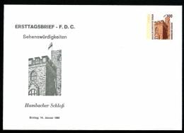 BERLIN PU143 D2/001a Privat-Umschlag HAMBACHER SCHLOSS ** 1988  NGK 11,00 € - Berlin (West)