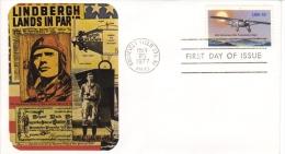 US  -  Charles Lindbergh  -  Aviation Pioneer   -  1er Jour Carte   -  FDC - Airplanes