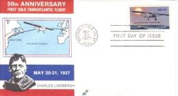 US  -  Charles Lindbergh  -  Aviation Pioneer   -  1er Jour Carte   -  FDC - Aerei