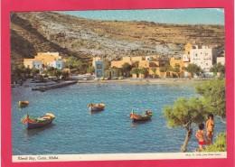 Xlendi Bay, Gozo, Malta, Posted With Stamp, A17. - Malta