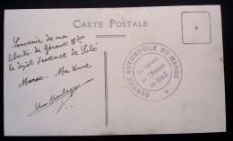 """CP Photo Cachet """" SERVICE AUTOMOBILE DU MAROC Le Gérant De L'Annexe De Salé """" - Covers & Documents"""
