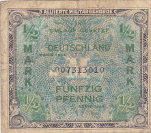 Fünfzig Pfennig - 1/2 Mark - Allierte Militärbehörde 1944 - Ohne Zuordnung