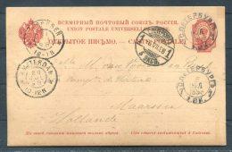 1898 Russia St Petersburg Stationery - Holland - Briefe U. Dokumente