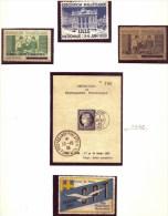 LOT DE 5VIGNETTES DE FRANCE DONT BLOC DE PROPAGANDE AVEC TAMPON- EXPOS.PHILATÉLIQUE : HAYANGE- LILLE- TOULON- 2 SCANS - Briefmarkenmessen