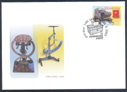 Slovenia Slowenien Slovenie 2005 FDC Cover: Postal History; Postal Coach Postbox; Postal Balance - Correo Postal