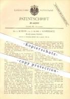Original Patent - Dr. L. Huebner Und R. Busse In Schweidnitz , 1888 , Elektrisches Schloss , Schlosser , Schlosserei !! - Historische Dokumente