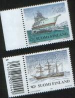 Finlandia - Finland 1998 Ships Norden Navi 2v  Uno Con Barcode  Complete Set ** MNH - Unused Stamps
