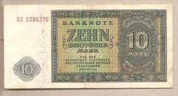 Germania - Banconota Circolata Da 10 Marchi - 1948 - [ 5] Ocupación De Los Aliados