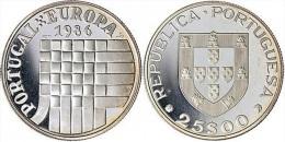 "PORTUGAL  (República)  25 Escudos 1.986  Cu Ni  KM#635 ""Admission To European Common Market""  UNCIRCULATED T-DL-11.344 - Portugal"