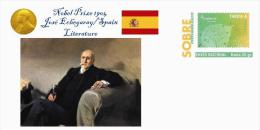 Spain 2015 - Nobel Prize 1904 - Literature - Jose Echegaray/Spain Special Cover - Prix Nobel