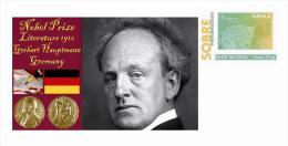 Spain 2015 - Nobel Prize 1912 - Literature - Gerhart Hauptmann/Germany Special Cover - Prix Nobel
