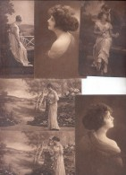 AMAG GRAVURE - LABORATORIOS SOUBERAIN CHOBET FUNDADOS EN 1912  RARA COLECCION DE 6 CPA CIRCA 1915 DOS DIVISE UNCIRCULATE - Health