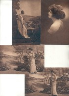 AMAG GRAVURE - LABORATORIOS SOUBERAIN CHOBET FUNDADOS EN 1912  RARA COLECCION DE 4 CPA CIRCA 1915 DOS DIVISE UNCIRCULATE - Health