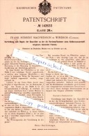 Original Patent - F. H. Macpherson In Windsor , Canada , 1901 , Regeln Der Gaszufuhr !!! - Documents Historiques