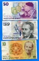 Israel  7  Billets  Dans  L´etat - Israel