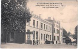 Haupt Bahnhof D MÜNCHEBERG Umsteig Station N Märkische Schweiz + Fürstenwalde - Muencheberg