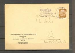 1941 , COLONIA - KOLN , SOBRE CIRCULADO, MATASELLOS PUBLICITARIO PARA EL USO DEL CORREO AÉREO - Cartas