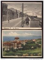 FALCONARA - ANCONA - ANNI 40 - 2 CARTOLINE FORMATO GRANDE MA RIFILATE. UNA CON TRENO IN LONTANANZA - Ancona