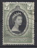 Gibralter 1953  Kronung Von QEII  (o) Mi.133 - Gibraltar