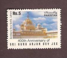 Pakistan 2006, 400th Anniversary Of Guru Arjun Dev Jee, Lahore Temple, Sikh Religion 1v, MNH - Pakistan
