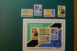 Tanzania 1979 death centenary rowland hill set and Min sheet NHM