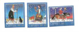 Latvia - Christmas,  2005 -  CAT , WOLF  - USED - Full Set (O) - Letland