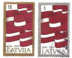 Latvia - Flag 1993  - Latvian Used Stamps (o) - Lettonie