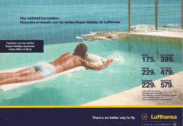 """LUFTHANSA. """"Haz Realidad Tus Sueños"""" (Advertising, In Spanish, 2002) - Aviación"""