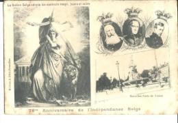 ! - Belgique - 75ème Annivers De L'Indépendance - Rois Léopold 1er, Léopold II Et Albert 1er - Pub Pour Cigares HACHES'S - Otros