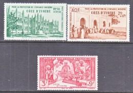 COTE  D' IVOIRE   CB 1-3    **    VICHY - Ivory Coast (1892-1944)