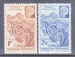 MADAGASCAR  210 A-B    *    VICHY - Unused Stamps