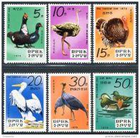 Korea 1979, SC #1864-69, Central Zoo, Birds - Birds