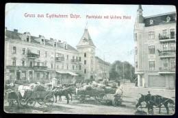 Cpa Allemagne Gruss Aus Eydtkuhnen Ostpr. Marktplatz Mit Welters Hotel   FRM 1 - Ostpreussen