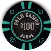 Jeton De Casino : Palm Casino Aruba $100 - Casino
