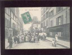 Paris  19e Rue De L'argonne édit. F.B. N° 193 Très Animée Attelage Magasin Maggi  , Hôtel - Arrondissement: 19