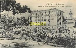 06 Menton, Cp Publicitaire Illustrée Par Lessieux, L'hermitage, Maison De Cure Des Drs Gallot Et Coubard - Menton
