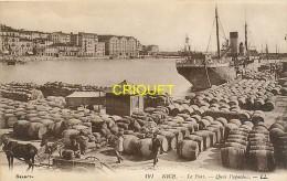 Cpa 06 Nice, Le Port, Quai Papacino, Chargement De Barriques Et Charrette Au 1er Plan... - Nice
