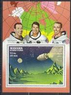 Manama 156A MI A12A Espace Exploration, Astronauts,  Eisele, Schihra, Cunningham, Neuf** Sans Charniere - Space