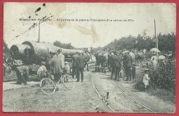 Brasschaat - Kamp - A L´entrée De La Plaine - Transport D'un Canon De 28 C - 1913  ( Verso Zien ) - Brasschaat