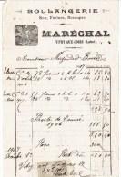 Facture Boulangerie MARECHAL - Vitry Aux Loges - - Petits Métiers