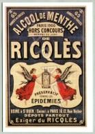 Publicité Sur Carte Postale - Alcool De Menthe Ricqlès (2) - Publicité