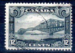 6.1.1929, Quebec Brücke, MiNr. 135, Gest., Los 43401 - 1911-1935 Reign Of George V