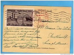 """Vignette """"le Havre Renaitra De Ses Cendres""""carte Max -tp -N° 754 Fouquet De La VarenneJT 29 Juin46 -le Havre - Commemorative Labels"""