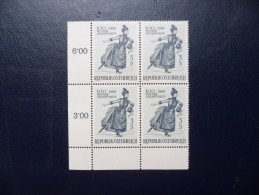 Austria 1966    Yvert  1066   Bloc X4    MNH** - 1961-70 Nuevos & Fijasellos