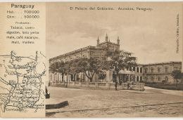 Asuncion El Palacio Del Gobierno Carte Geo Map Tabacco Café Maté Coton Cuir Cuero Algodon Edit Gruter - Paraguay