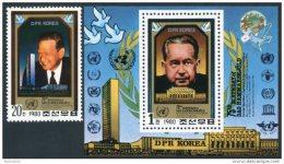 Korea 1980, SC #2007-08,  Perf 1V+S/S, Dag Hammarskjold - Dag Hammarskjöld