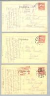 Kroatien Zagreb 1917 3 Zensurierte Karten Versch. Z-O - Croatie
